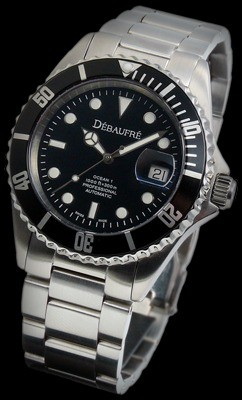 Ocean-1 Black Swiss Watch